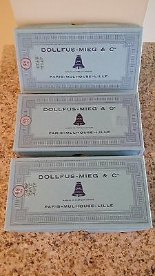 Dollfus-Mieg & Cie 100% Cotton Thread Mixed Lot of 3 Boxes