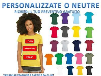 T-Shirt Donna Manica Corta Fruit Of The Loom Personalizzabile