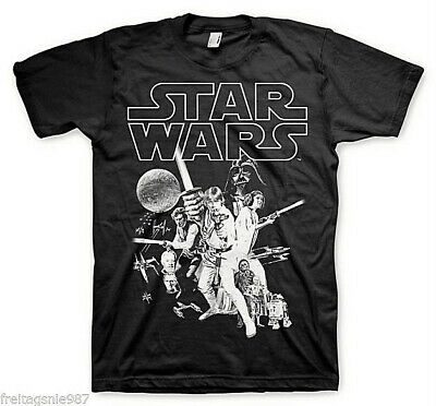 STAR WARS CLASSIC POSTER  T-Shirt  camiseta cotton officially licensed