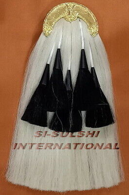 SI-BLACKWATCH WHITE HORSE HAIR MILITARY LONG SPORRAN ( 100% Original )