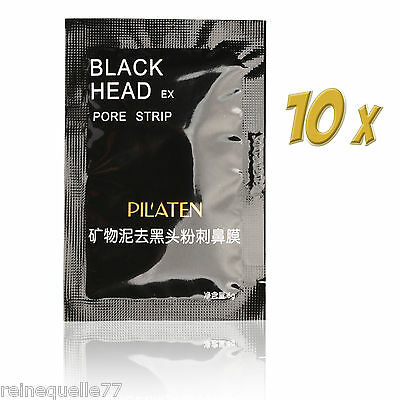 10x Nose Blackhead Pore Strips Cleansing Removal Mineral Mud Cleaner Membranes