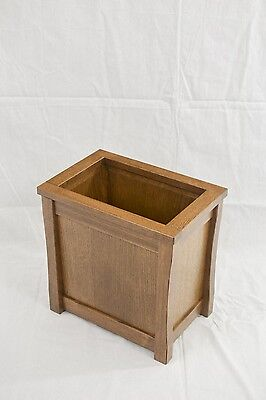 Wooden trash can. Mission style. Oak. NEW! CQ-2-34