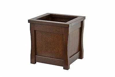 Medium wooden trash can. Mission style. Red oak. NEW! CQ-2-75