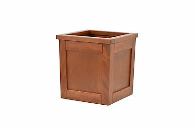 Medium wooden trash can. Shakers style. Birch. NEW! TE-823