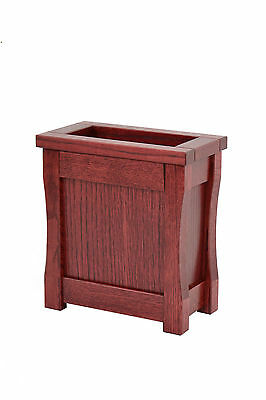 Small wooden trash can. Mission style. Oak. NEW! TE-1366