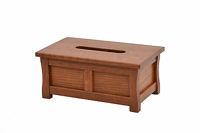 Wooden tissue box holder. Mission style. Red oak. NEW! TE-823