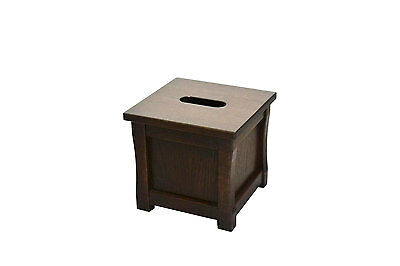"""Wooden tissue box """"cube"""" holder. Mission style. Oak. NEW! CQ-2-75"""