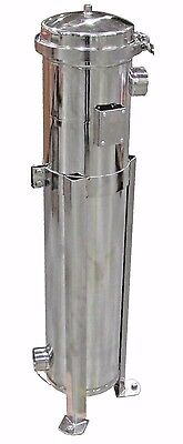 """Prm #2 Bag Filter Housing 304 Stainless Steel 100 Psi 2"""" Npt In/out Banded Nib"""
