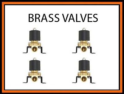 """4 electric solenoid 1/4"""" npt brass air valves For Train Horn Fast Suspension"""