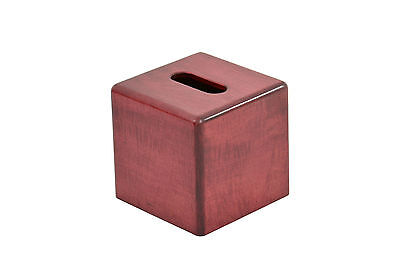 """Wooden tissue box """"cube"""" cover. Maple. NEW! TE-1366"""