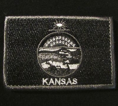 Kansas State Flag Morale Swat Velcro® Brand Fastener Badge Patch