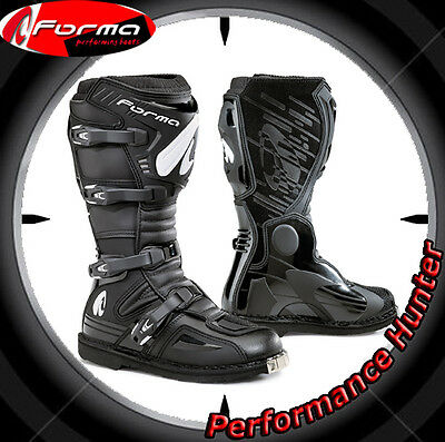 Bottes Chaussures Moto Forma Off Road Mx Terrain Evo Black Tg: 48
