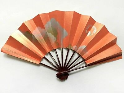 Vintage Japanese Geisha Odori 'Maiogi' Folding Dance Fan from Kyoto: Design J26
