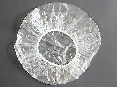 """100 Large 24"""" Disposable Clear Shower Caps Free Shipping"""