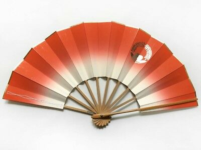 Vintage Japanese Geisha Odori 'Maiogi' Folding Dance Fan from Kyoto: Design J28