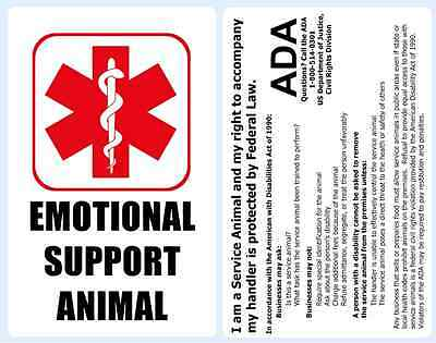 Professional Emotional Support Animal Badge with ADA Regulations - 3B