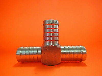 "Brass Tee Piece Fitting 1/2"" Hose 3 Way Barb Enz- P14-08"