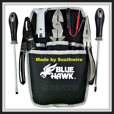 Blue Hawk 8-Piece Electricians Tool Set with Pouch NEW Fast Priority Mail