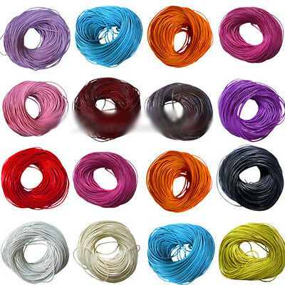 New Useful Genuine Leather Round Thong Rope Cord 1.5mm/2mm 11 Colors Cord Wire