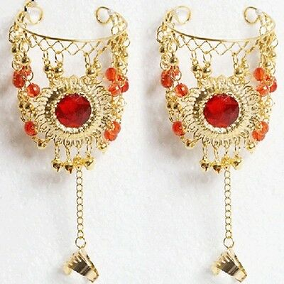 Indian Belly Dance Accessories Dancing Chain Hand Ring Golden coins Bracelets