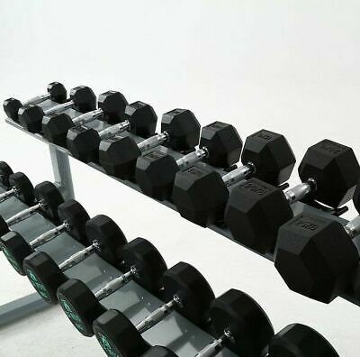 Hex Dumbbells Rubber Encased Dumbbell Set Gym Weights Singles/Pairs 1-30kg