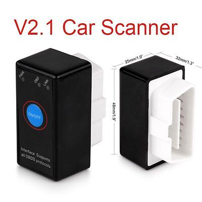 Mini ELM327 OBD2 II Bluetooth Diagnostic Car Auto Interface Scanner With Switch