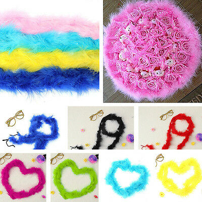 2M Lengths Quality Marabou Fluffy Feather Trim With 10 Different Colors