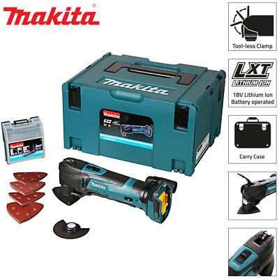Makita DTM51ZJX7 18v Multi Tool Bare Unit With Makpac and 23 Piece Accessory Kit