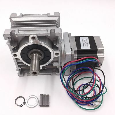 NEMA23 Worm Gear Stepper Motor L56mm Ratio10:1 NMRV030 Speed Reducer Gearbox