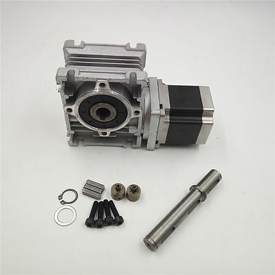 Ratio 30:1 Gearbox NEMA23 NMRV030 Worm Gear L56mm Stepper Motor Speed Reducer
