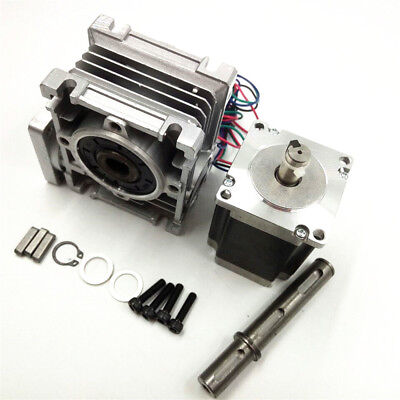 Worm Gear NMRV030 Stepper Motor Gearbox Ratio 10:1 NEMA23 Speed Reducer L76mm