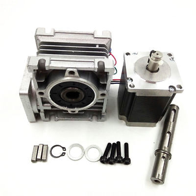 Worm Gear NMRV030 Stepper Motor Ratio 30:1 NEMA23 L76mm Speed Reducer CNC Kits