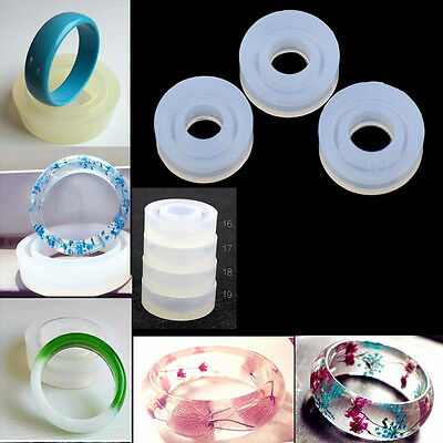 1PC 4 SIZE SILICONE RING MOULD - Faceted Resin Jewellery Making Mold Jewelry DIY
