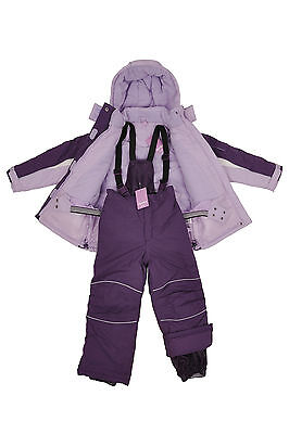Girls Ski/Snow Suit Jacket/Pants Purple Size 3-10 Water/Wind Proof Kids Children