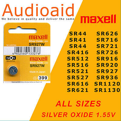 Maxell Watch batteries, Silver Oxide - All Sizes (GENUINE)