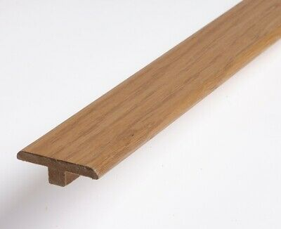 Real Solid T Section For Wood Floors Threshold Door Bar Profile Trims SMOKED OAK