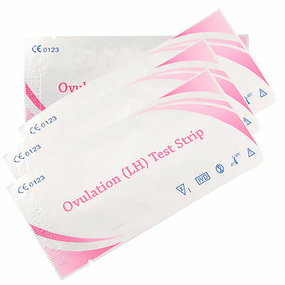 20pcs Ovulation Fertility Test Strips Early Pregnancy Monitor Clear Result Kit