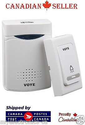 Voye V006B 38 Sounds Wireless Doorbell Electronic LED Remote Control Door Bell