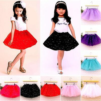 Kids Girls Ballet Tutu Skirt Elasticated Waist Party Dance, ,One Size: 3-7 years