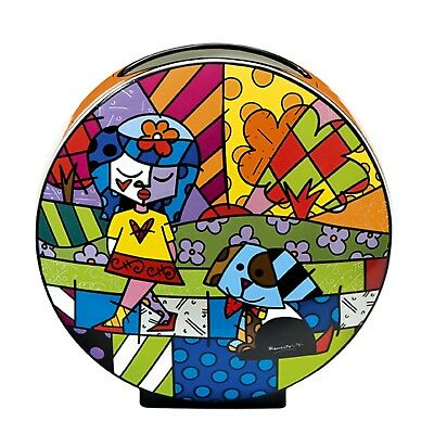 "ROMERO BRITTO - Miami POP ART ""BEST FRIEND"" Goebel Designervase Porzellan NEU !!"