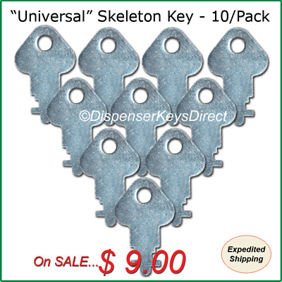 """Universal"" Skeleton Key for Paper Towel & Toilet Tissue Dispensers - (10/pk.)"