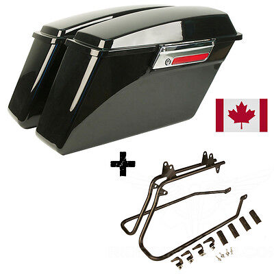 New Harley Heritage Softail Hard Saddlebag Kit Fat Boy Deluxe Standard Bags
