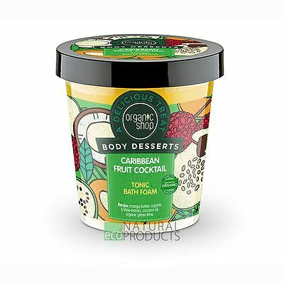 Organic Shop Body desserts Caribbean Fruit Cocktail Tonic Bath Foam 450ml