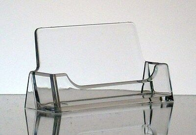 New CLEAR Acrylic Desktop Business Card Holder Display FREE SHIPPING