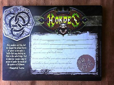 Tournament Winners certificate / Rare / Official product / Circle of Orboros