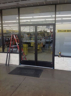 "Commercial Storefront Glass Entry Pair Of Doors 6-0 X 7-0. Insulated 1"" Glass"