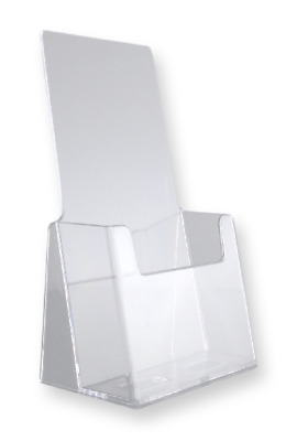 Clear Acrylic 4 inch wide Tri Fold Brochure Holder Display Stands Lot of 20