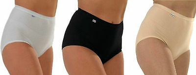 Pack Of 3 & 6 Ladies Womens Cotton Plain Maxi Full Briefs Adults Knickers Pants