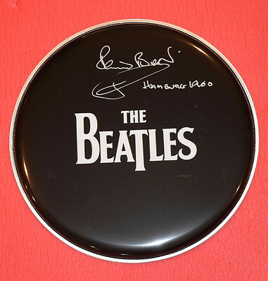 Pete Best Signed Autographed Drumhead The Beatles Hamburg 1960 Exact Proof  C