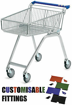 NEW 80L Light Shallow Wire Metal Picking Warehouse Supermarket Shopping Trolley